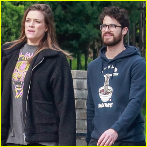Darren Criss & Wife Mia Enjoy Some Fresh Air in Los Feliz