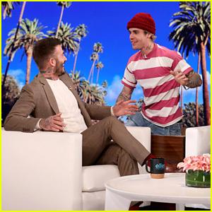 David Beckham Gets Scared by Justin Bieber on 'Ellen' - Watch! (Video)