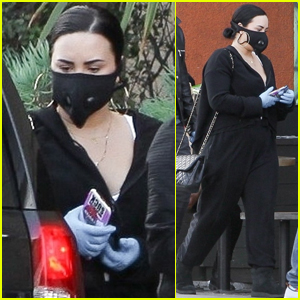 Demi Lovato Wears Mask & Gloves While Stocking Up on Groceries Amid Coronavirus Fears