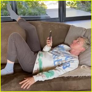 Ellen DeGeneres Calls Justin Timberlake, John Legend, & Adam Levine While Self-Quarantined - Watch!