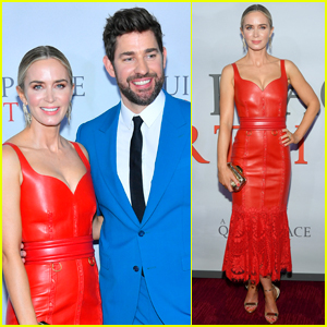 Emily Blunt Looks Red Hot in Leather at 'A Quiet Place Part II' Premiere with John Krasinski!