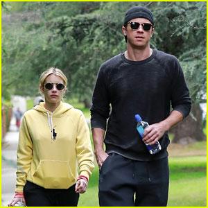 Emma Roberts & Garrett Hedlund Go for a Morning Walk While Social Distancing