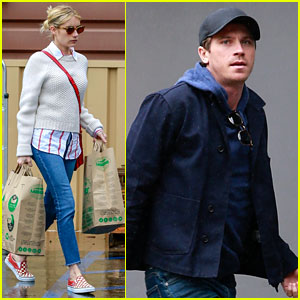 Emma Roberts & Garrett Hedlund Stock Up on Groceries Amid Coronavirus Outbreak