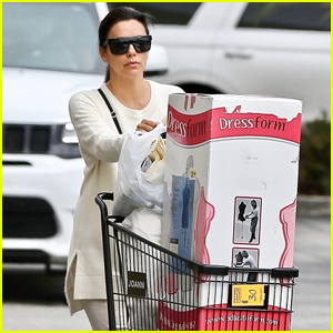 Eva Longoria Stocks Up on Craft Supplies During Afternoon Outing