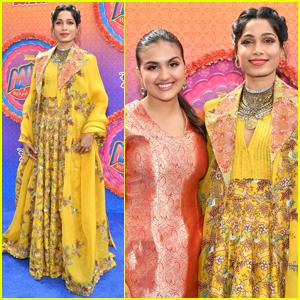 Freida Pinto & Leela Ladnier Go Bright & Colorful for 'Mira, Royal Detective' Premiere
