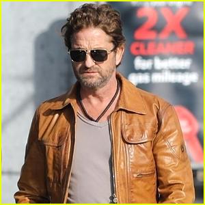 Gerard Butler Wears His Favorite Jacket For Running Errands