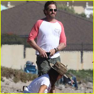 Gerard Butler Gets Some Fresh Air at the Beach with Morgan Brown