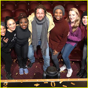 Gerard Butler Checks Out One of Broadway's Hottest New Musicals!