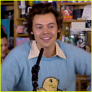 Harry Styles Jokes That 'Adore You' Is About a Fish During NPR's Tiny Desk Concert