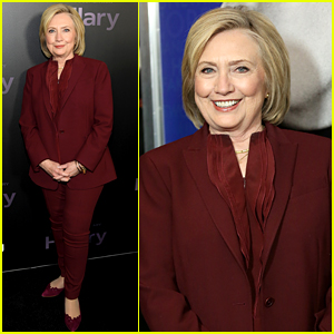 Hillary Clinton Rocks Red Suit at Hulu's 'Hillary' Premiere in NYC