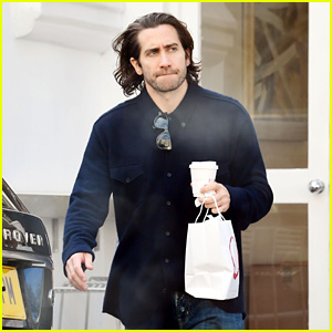 Jake Gyllenhaal Sports Longer Hair While Stopping for Sweets in London