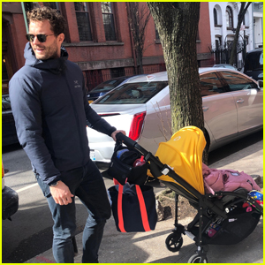 Jamie Dornan Takes His Youngest Daughter for a Walk in Brooklyn!
