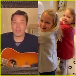 Jimmy Fallon Opens Up About 'Controlled Chaos' of At-Home Shows With His Two Daughters