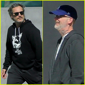 Joaquin Phoenix & Moby Grab Lunch Together in LA