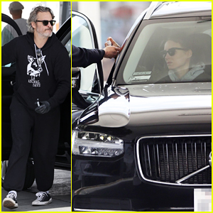 Joaquin Phoenix Wears Gloves While Pumping Gas with Rooney Mara Amid Coronavirus Concerns