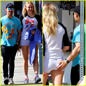 Joe Jonas Gets a Little Handsy with Sophie Turner During a Friday Lunch Outing