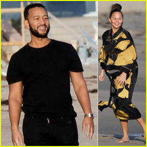 John Legend & Chrissy Teigen Hit The Beach for Fun Amid Coronavirus Concerns