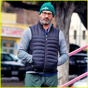 Jon Hamm Catches Some Fresh Air During a Solo Stroll