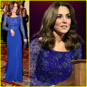 Duchess Kate Middleton Is a Vision in Blue at Place2Be's 25th Anniversary Event
