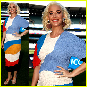 Katy Perry Shows Off Baby Bump in First Appearance After Pregnancy Announcement!