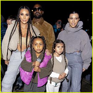 Kim Kardashian Cheers on Daughter North at Kanye's 'Yeezy' Show in Paris