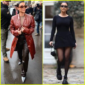 Kim & Kourtney Kardashian Step Out in Style While Filming 'KUWTK' in Paris!