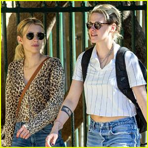 Kristen Stewart Gives Emma Roberts a Tour of Her Friend's New Apartment