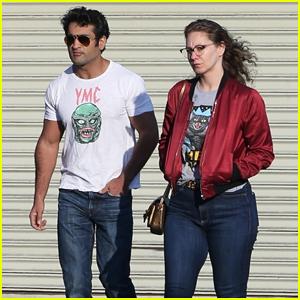 Kumail Nanjiani & Wife Emily V. Gordan Go For Afternoon Walk To Take Break from Quarantine