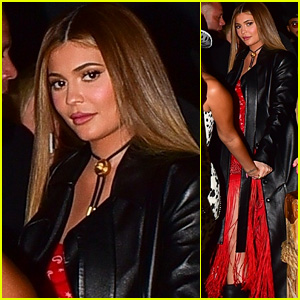 Kylie Jenner Rocks Caramel Long Hair at Western-Themed Party!