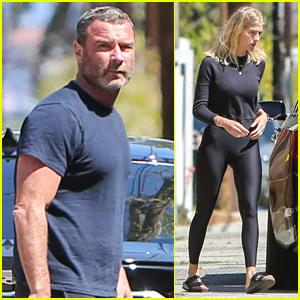 Liev Schreiber & Girlfriend Taylor Neisen Run Some Quick Errands in L.A.
