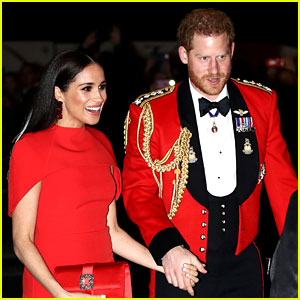 Meghan Markle & Prince Harry Match in Red Outfits at Event to Support Marines!