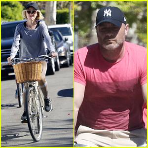 Naomi Watts & Liev Schreiber Both Take Bike Rides in LA