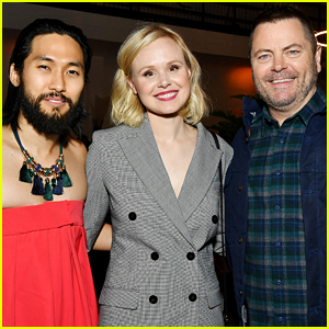 Nick Offerman & Jin Ha Join 'Devs' Castmates at Hollywood Premiere!