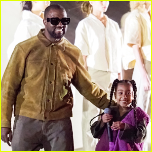 North West Closes Out Kanye West's Paris Fashion Show with a Performance!