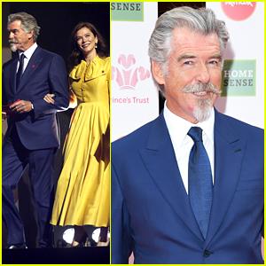 Pierce Brosnan Rocks A Chin Puff & Handlebar Mustache For Princes Trust Awards 2020