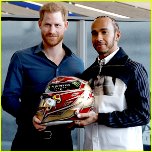 Prince Harry Beats Lewis Hamilton in Pit Stop Test During Silverstone Experience Museum Opening