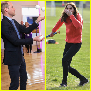 Prince William Juggles, Duchess Kate Middleton Tries Her Hand at Hurling in Ireland!