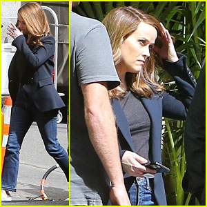 Reese Witherspoon Films Scenes for 'The Morning Show' Season 2