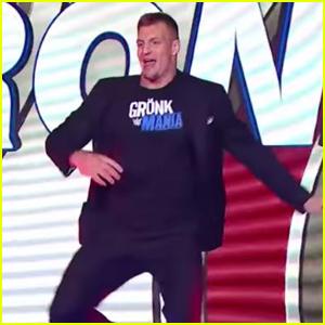 Rob Gronkowski Makes WWE Debut to Empty Stadium - Watch!