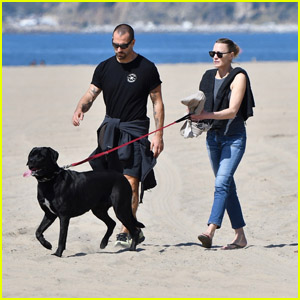 Robin Wright & Husband Clement Giraudet Get Some Fresh Air at the Beach Amid Pandemic