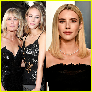 Robin Wright Shares Baby Photo Of Daughter Dylan Penn & Emma Roberts