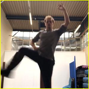 Sam Heughan Shows Off His Highland Fling Dance During Quarantine