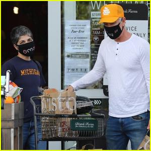 Selma Blair & Boyfriend Ron Carlson Take Extra Precautions While Food Shopping