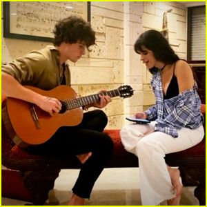 Shawn Mendes Plays Guitar While Camila Cabello Sings 'My Oh My' During iHeartRadio Living Room Concert - Watch!