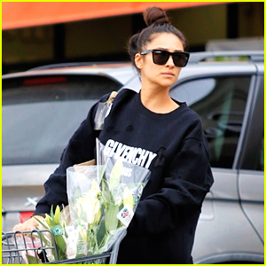 Shay Mitchell Stocks Up On Essentials & Flowers During Family Grocery Run