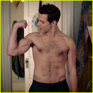 Skylar Astin Flexes His Muscles During Shirtless Scene on 'Zoey's Extraordinary Playlist'