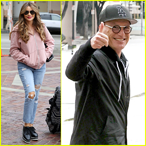 Sofia Vergara & Howie Mandel Step Out for 'AGT' Taping Before Show Stops Production