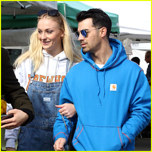 Pregnant Sophie Turner Wears Her Fave Overalls To The Farmer's Market With Joe Jonas
