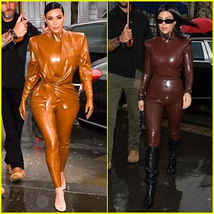Kim & Kourtney Kardashian Attend Kanye West's Sunday Service in Paris
