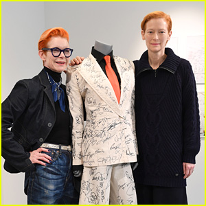 Tilda Swinton Signs Celebrity Signature-Filled Suit Going Up for Auction!